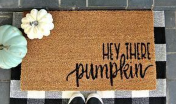 fall diy doormat